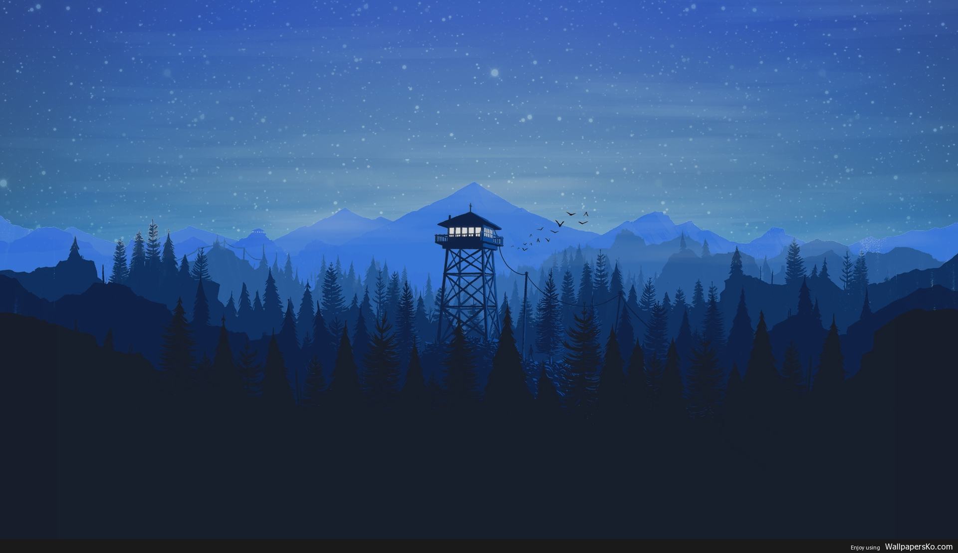 firewatch wallpaper 4k