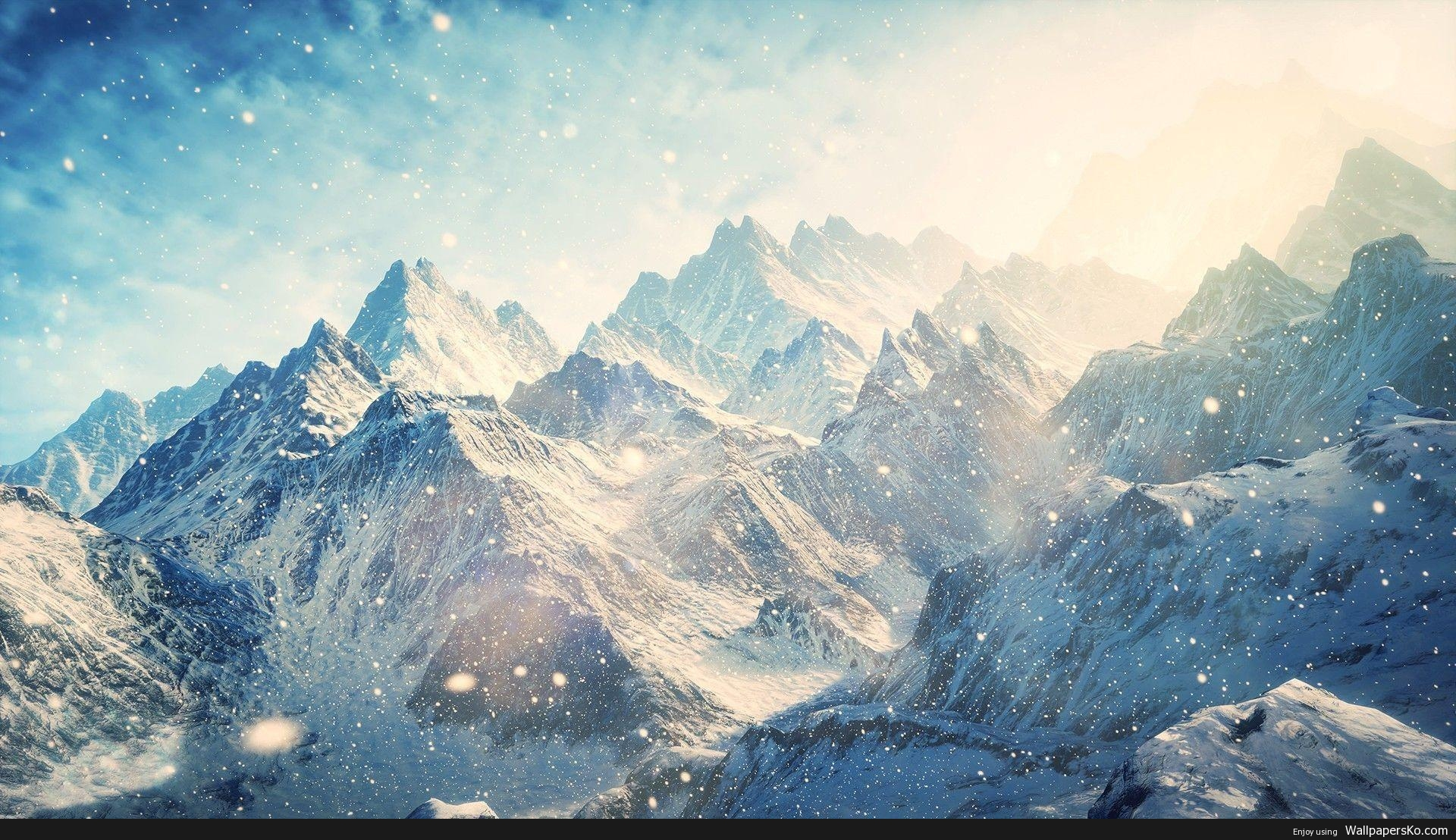 snowy mountains hd