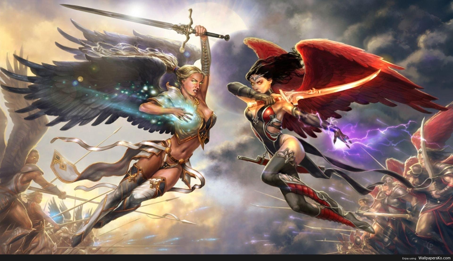 Angel Warriors Wallpaper
