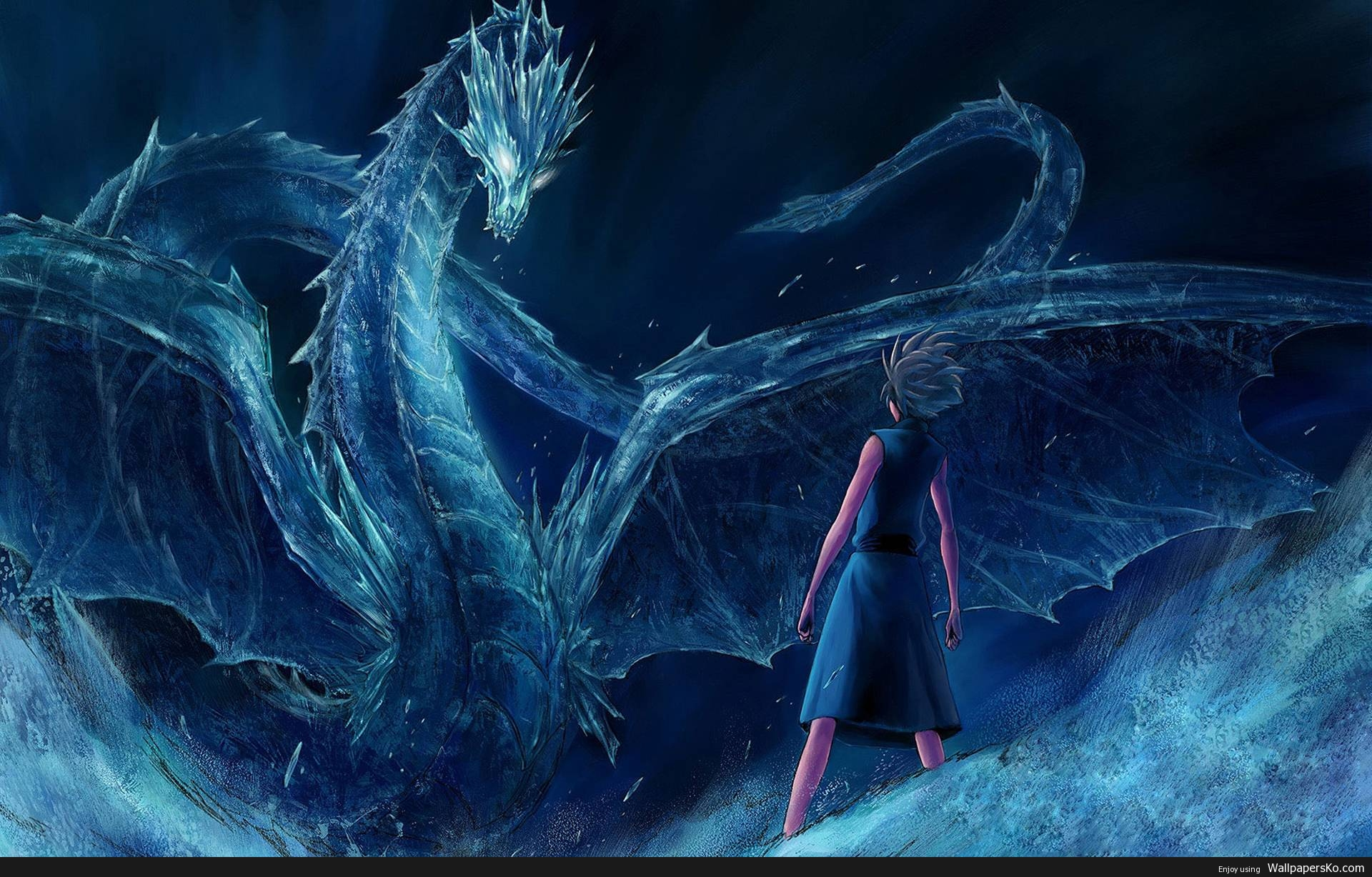 Anime Dragon Background