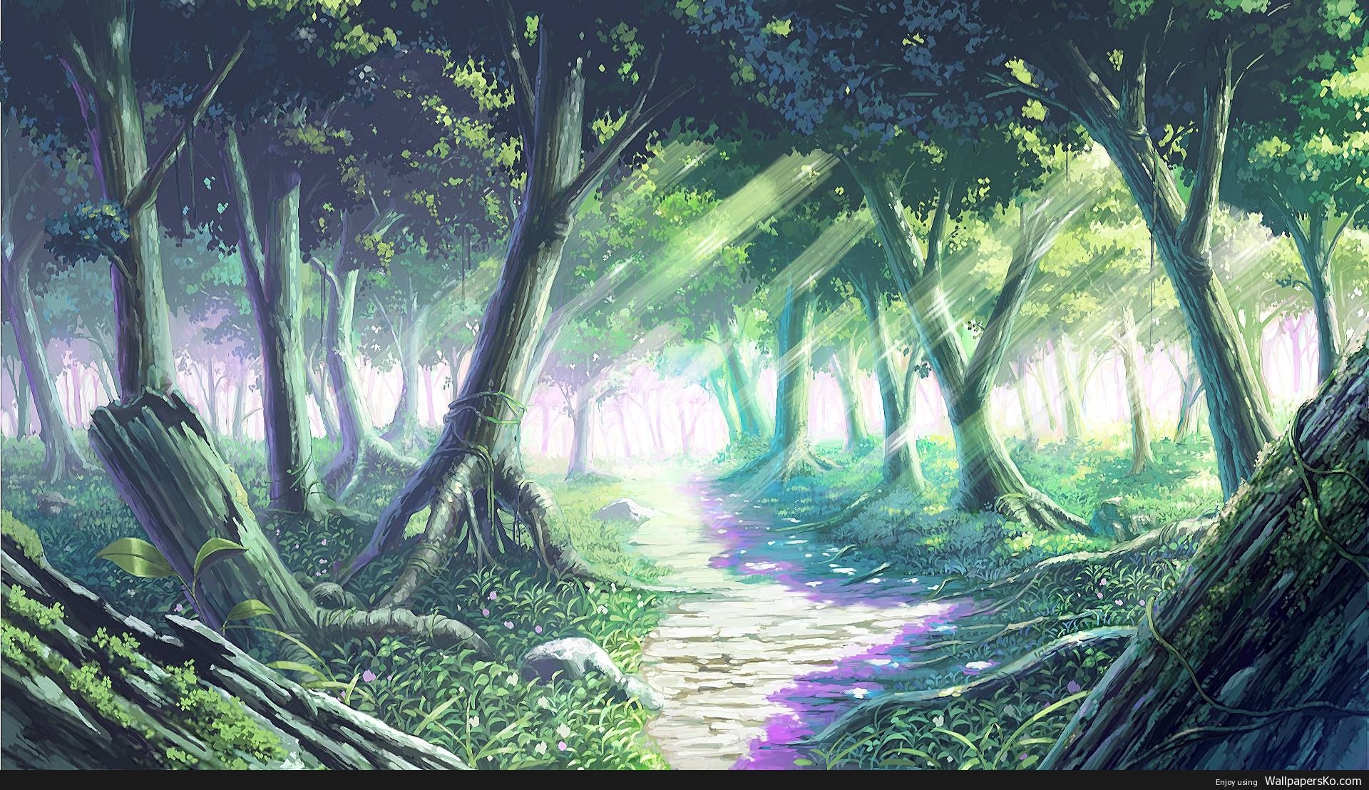 Anime Wallpaper Forest