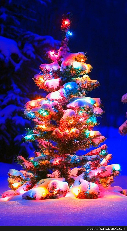 Christmas Tree Phone Wallpaper