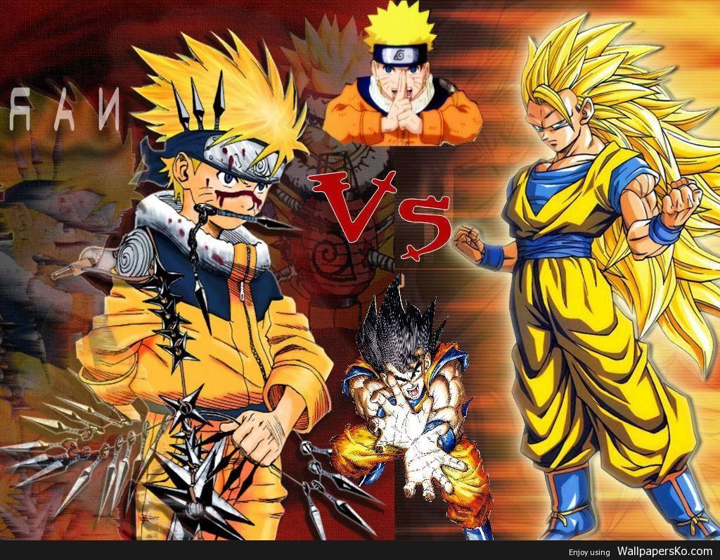 Dragon Ball Vs Naruto Wallpaper