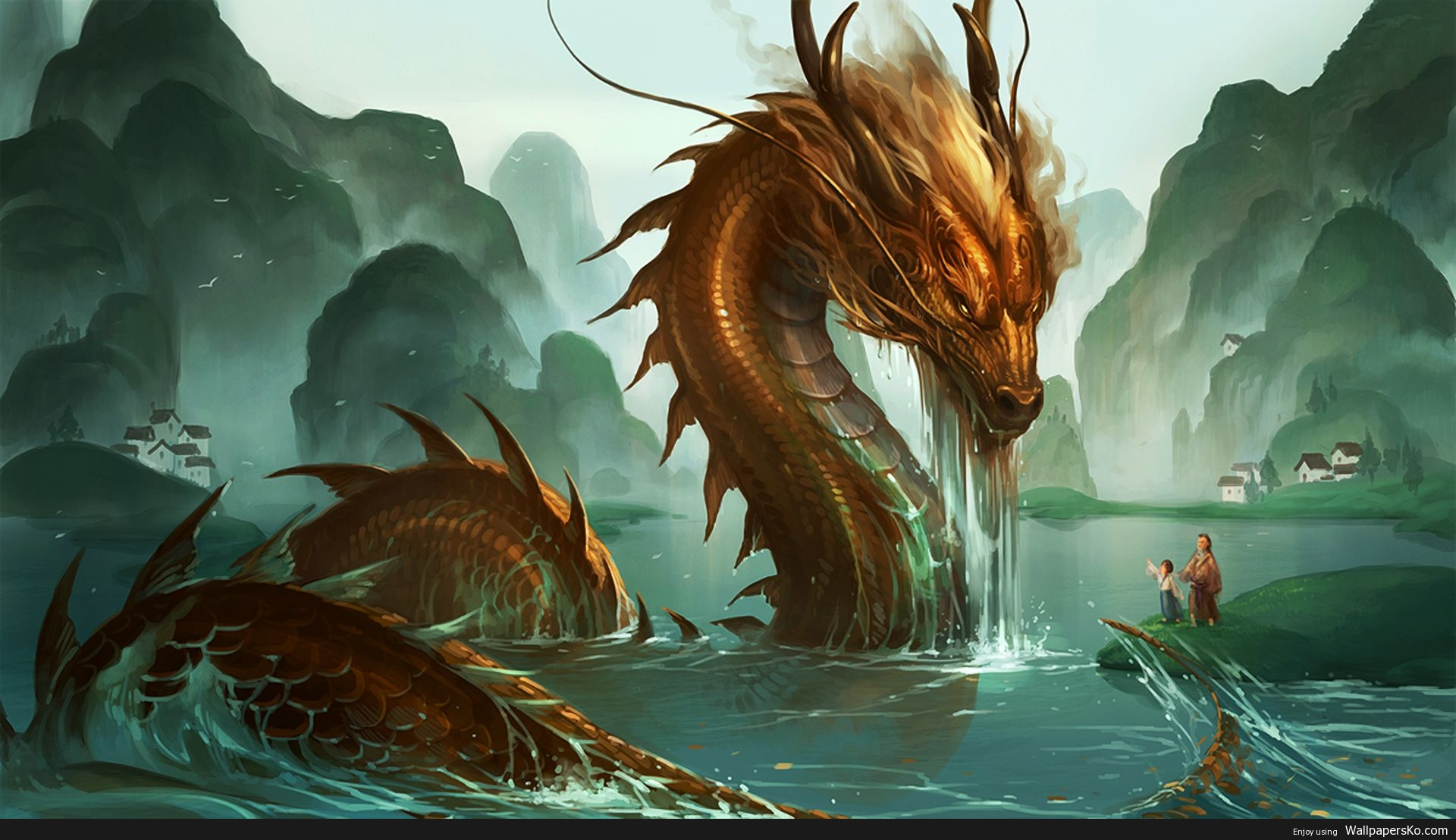 Eastern Dragon Wallpaper