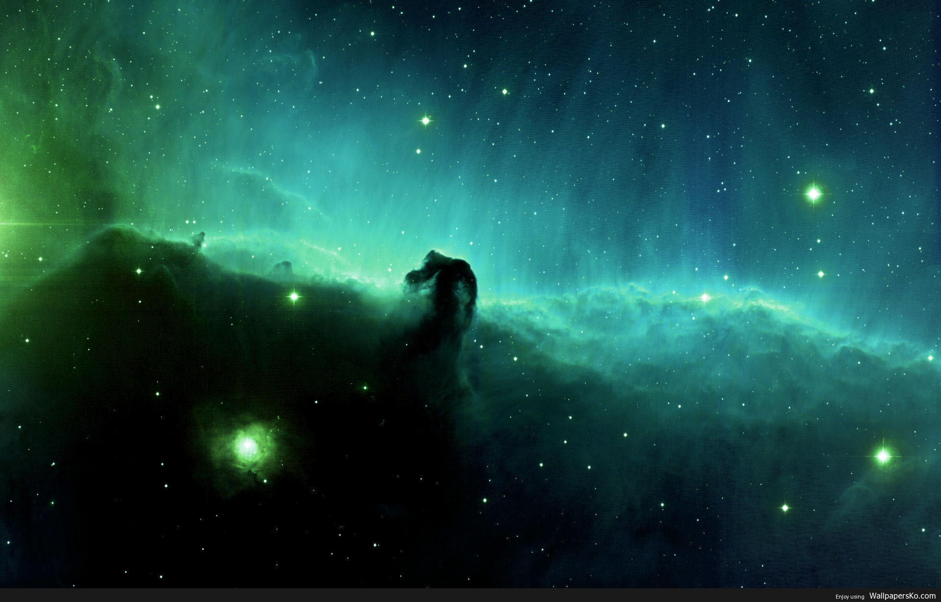 Space Wallpaper Green