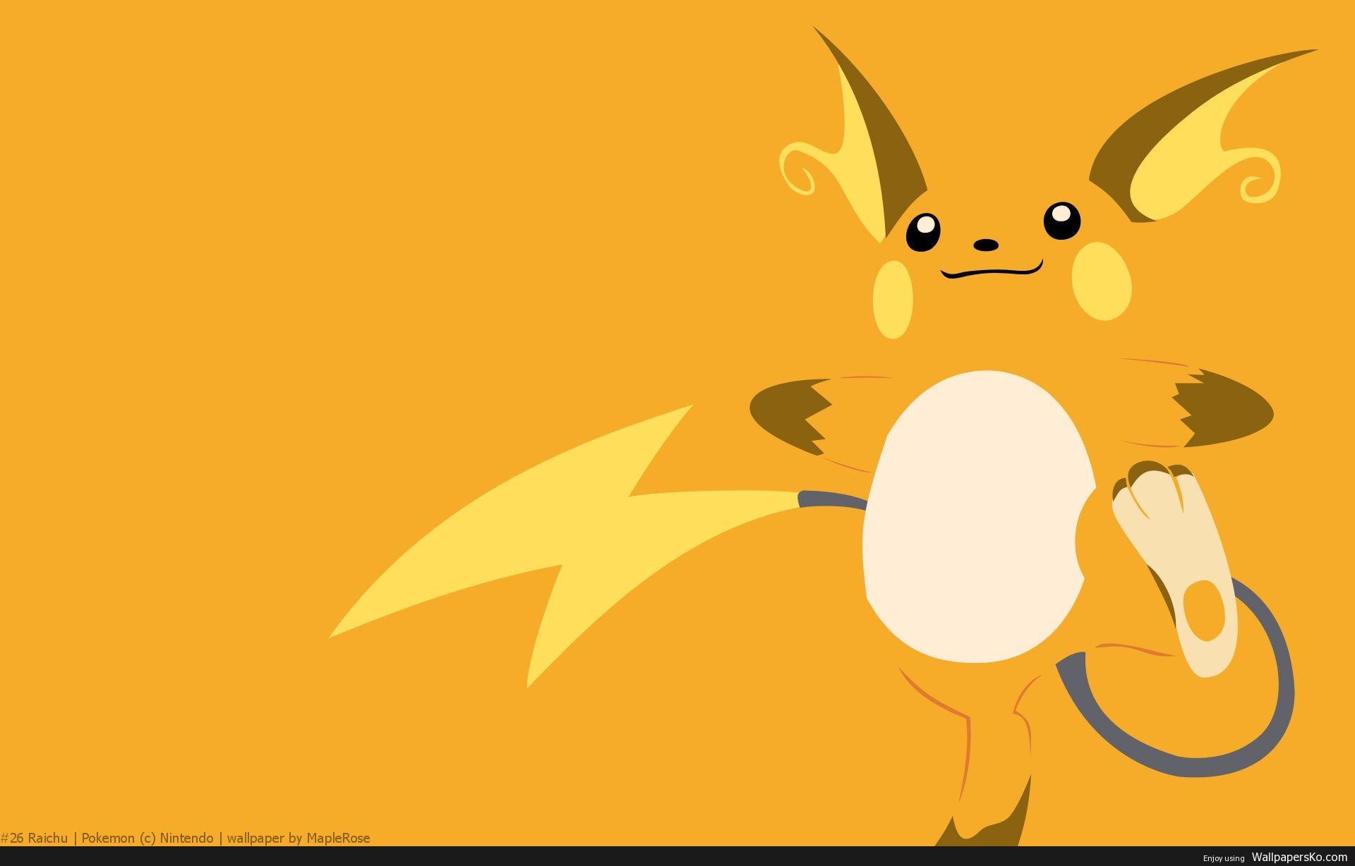 pokemon raichu wallpaper