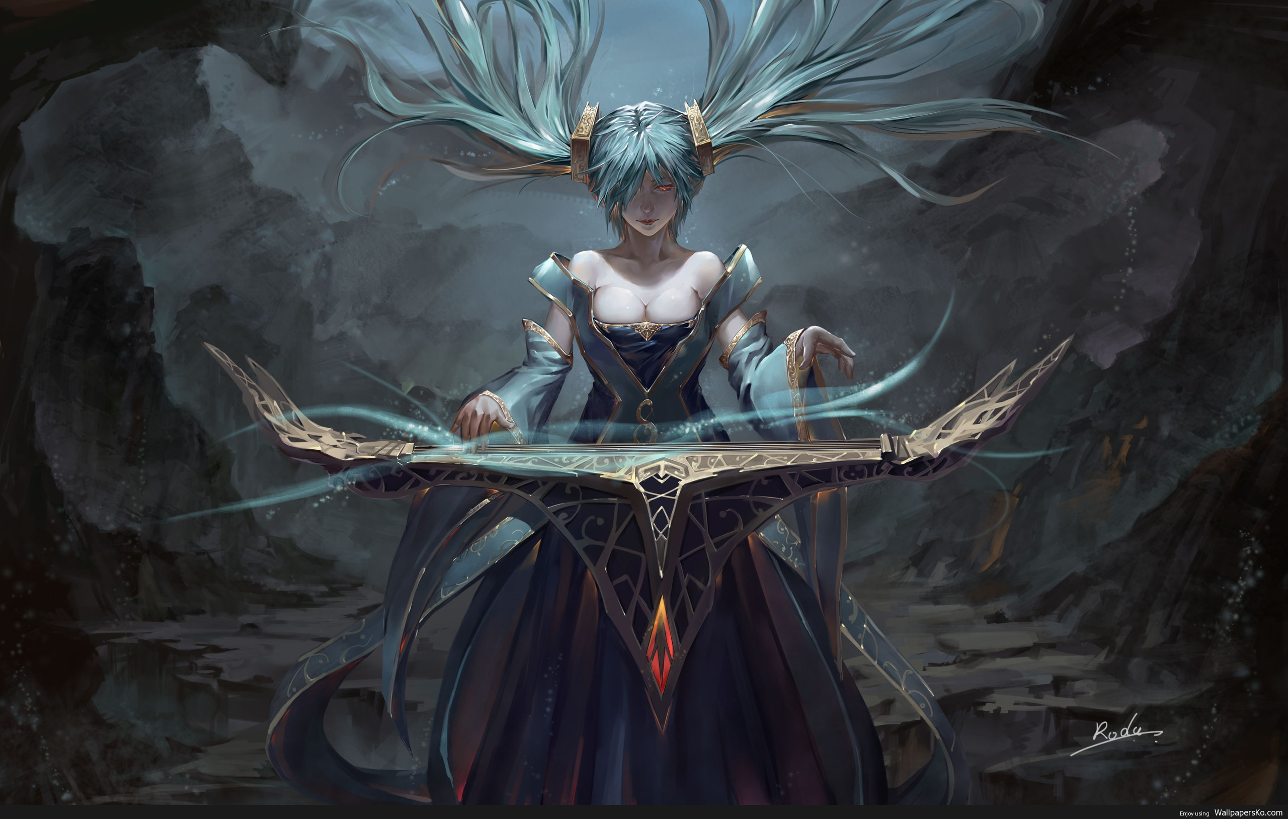 sona league of legends wallpaper