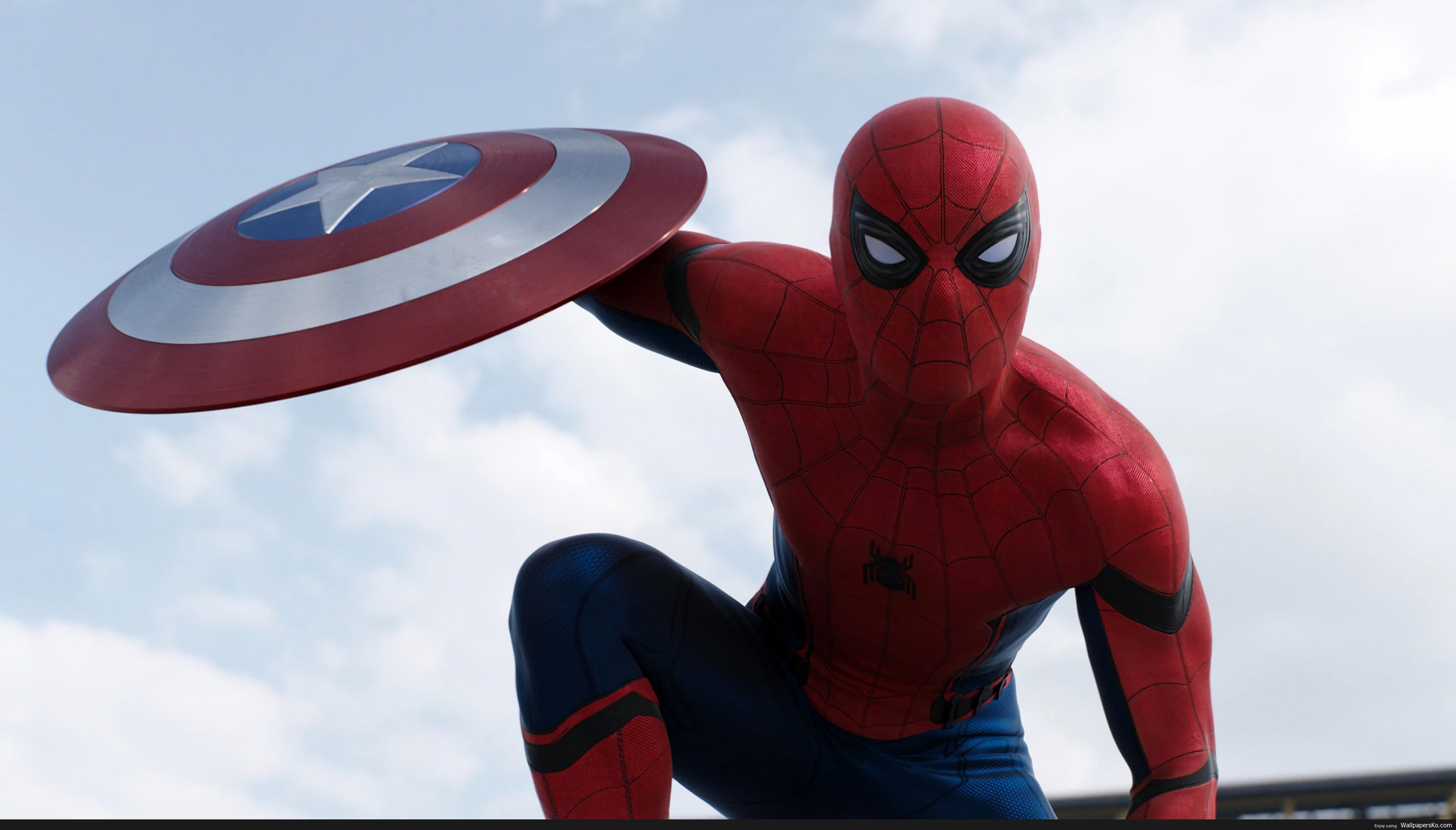 spiderman civil war wallpaper