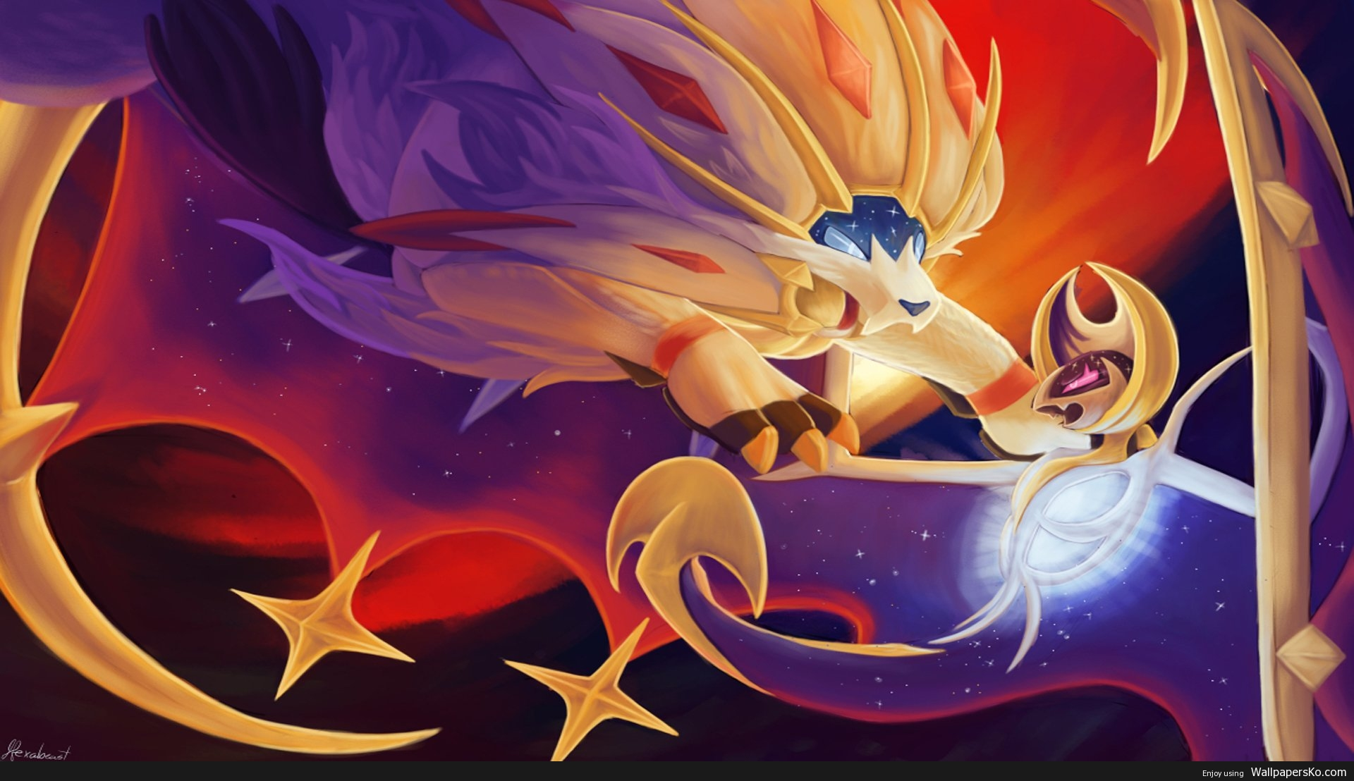 sun and moon pokemon wallpaper