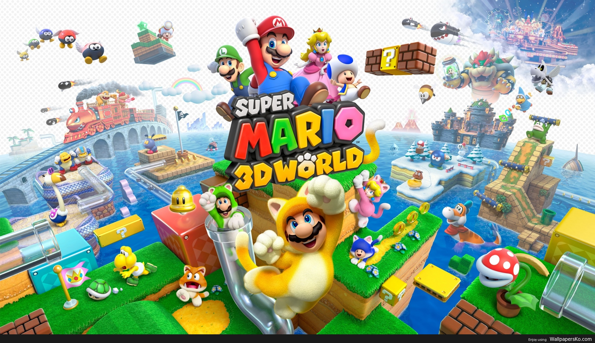 super mario 3d world wallpaper 1920×1080