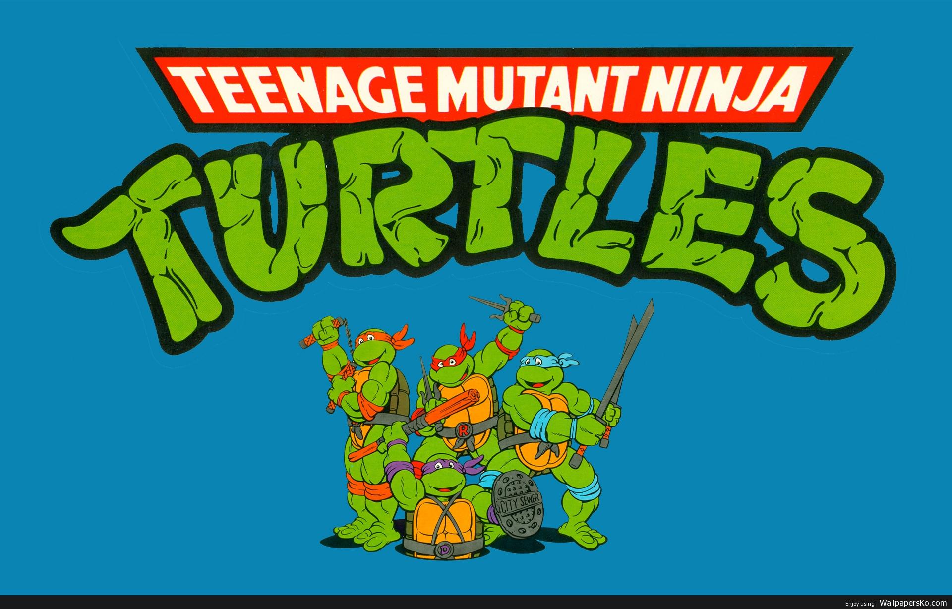 teenage mutant ninja turtles cartoon wallpaper