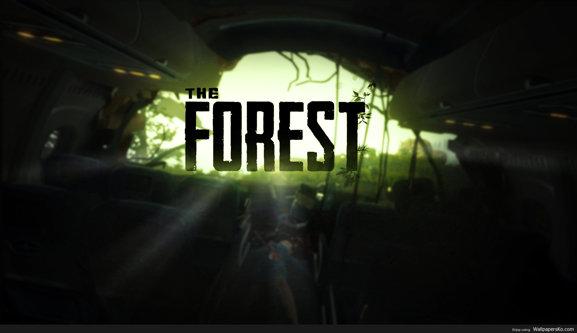 the forest game wallpaper