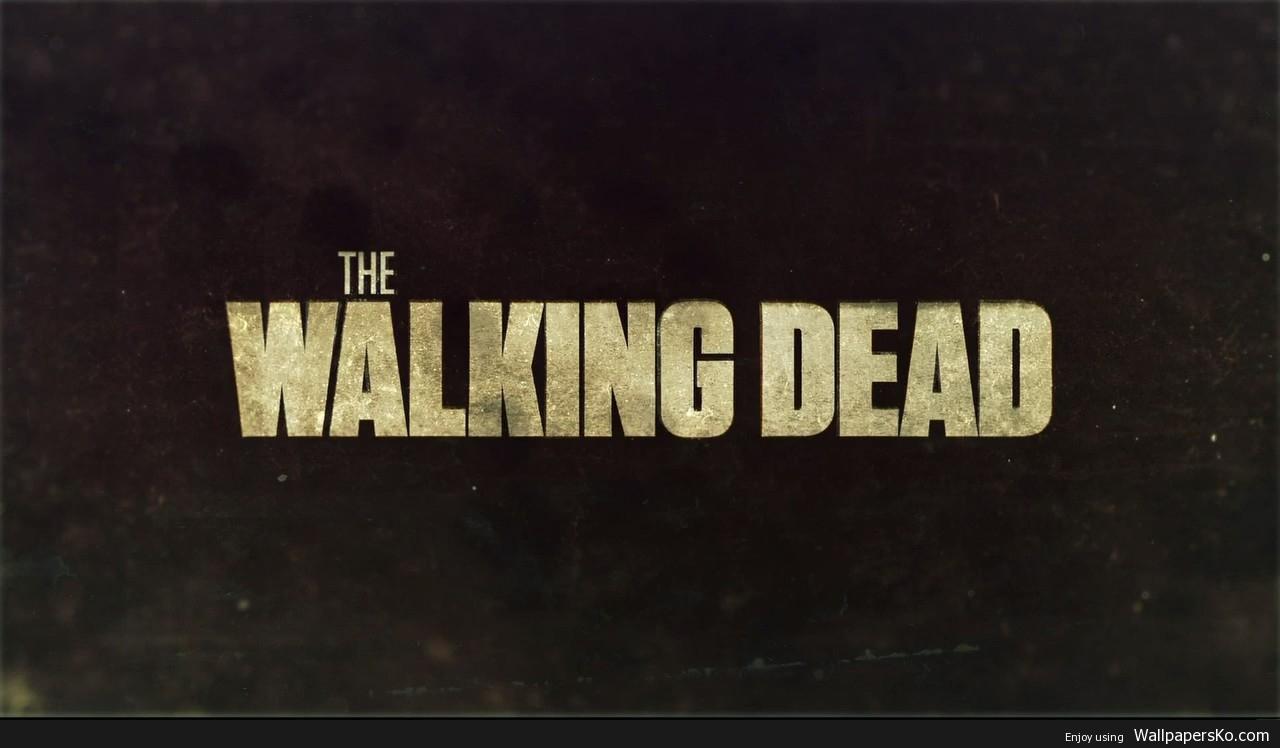 the walking dead logo wallpaper