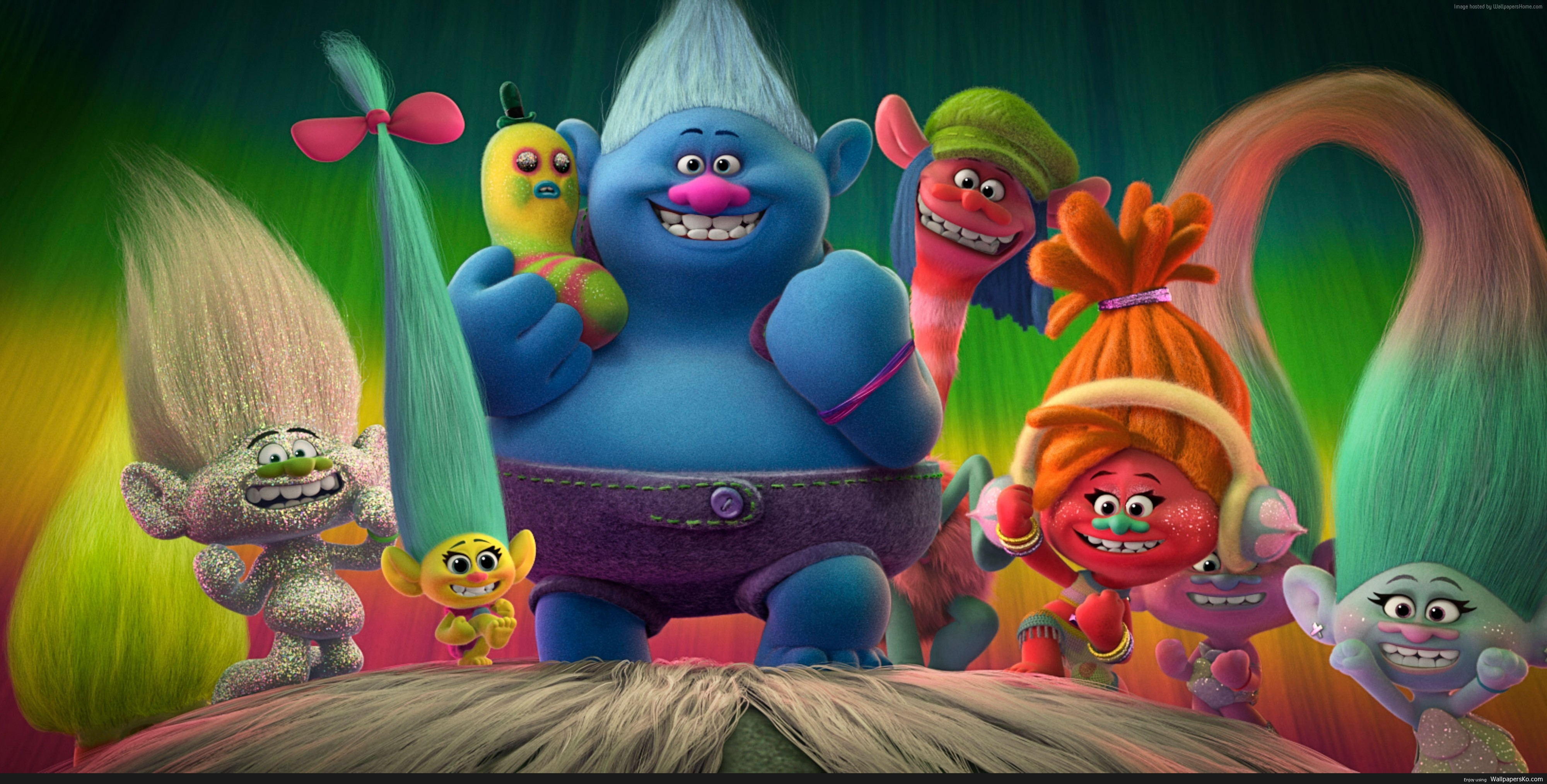 trolls movie wallpaper