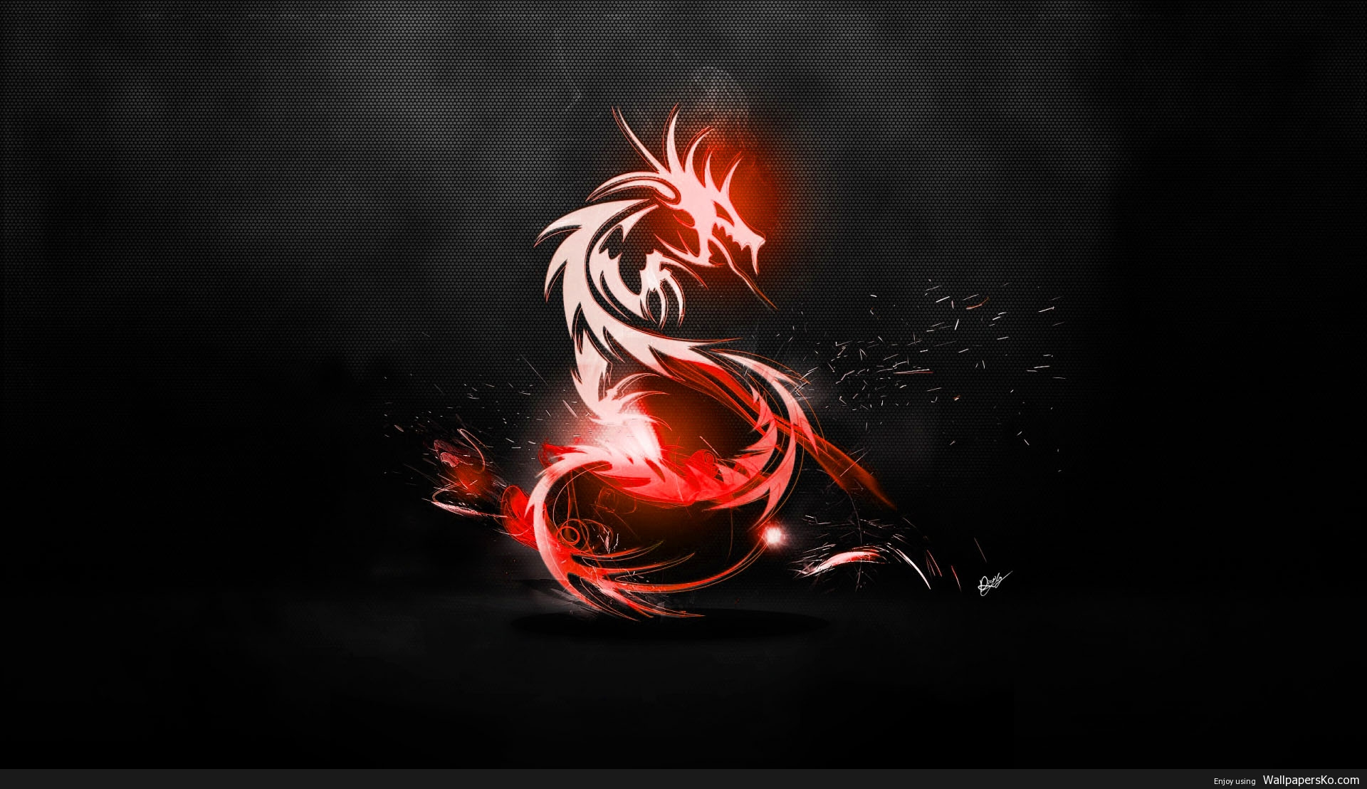 Black And Red Abstract Wallpaper 1080p