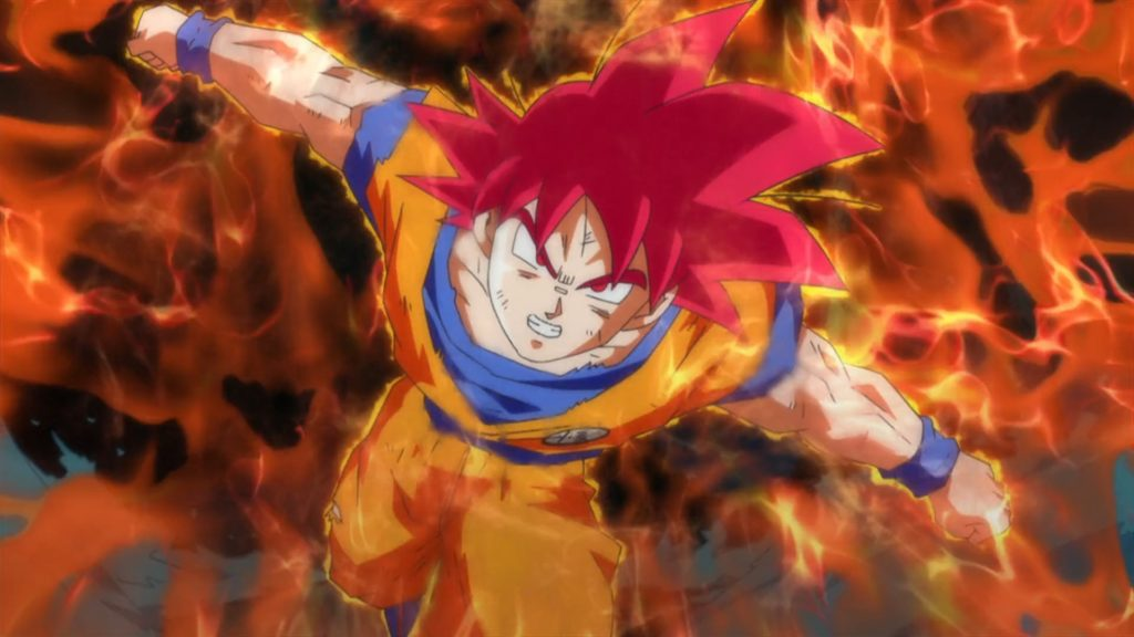 dragon ball z wallpaper goku super saiyan god