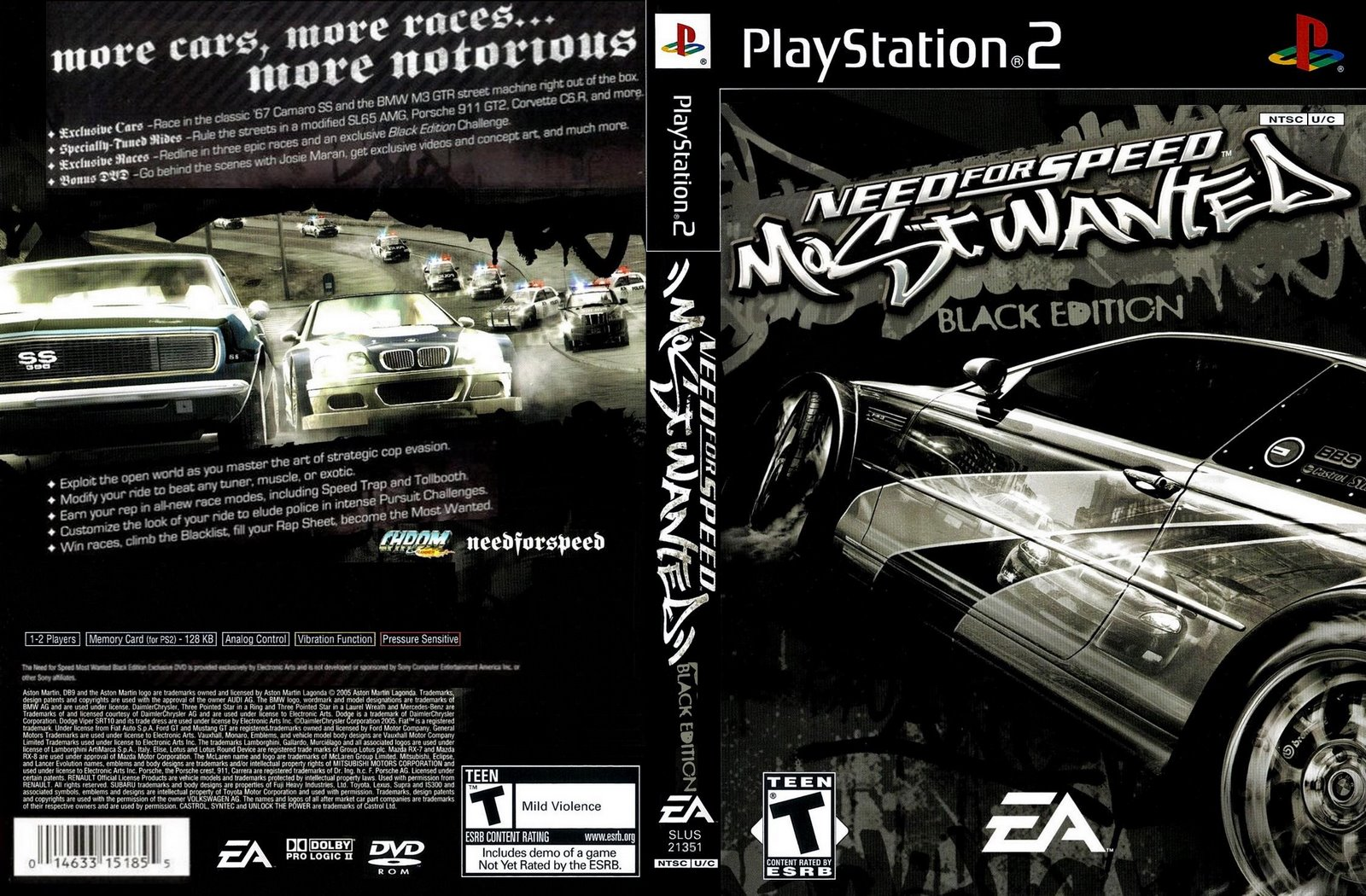 need for speed most wanted black edition ps2