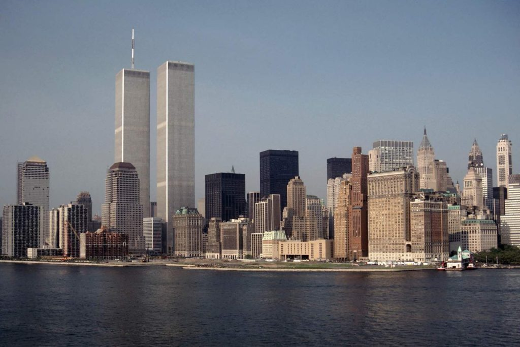 picture of new york skyline with twin towers