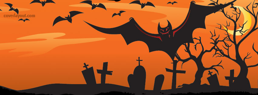 bats on a red background for fb cover