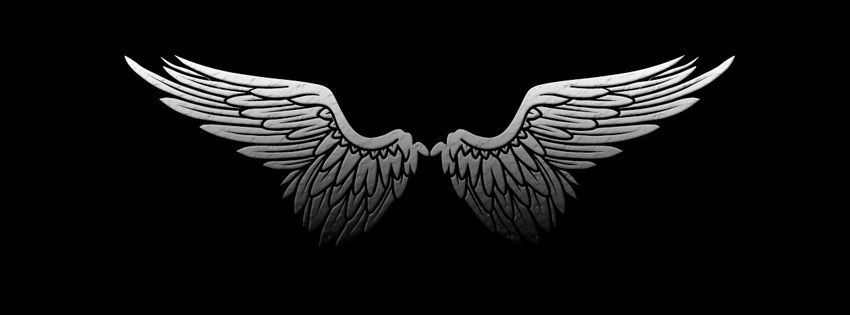 black angel wing fb cover