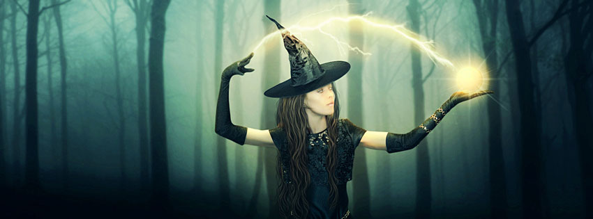 halloween witch fb cover