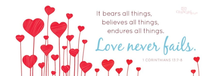 love bears all things fb cover