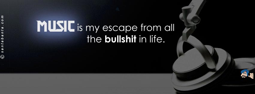 music quote fb cover