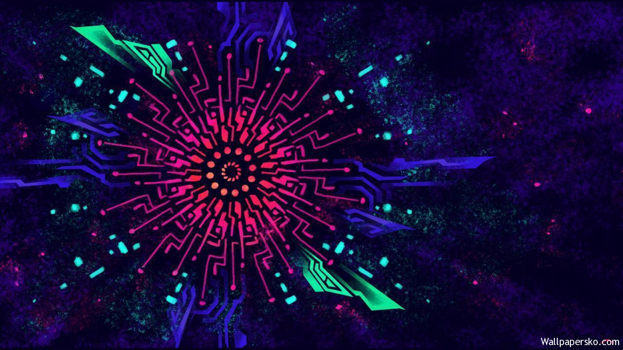 black light wallpaper
