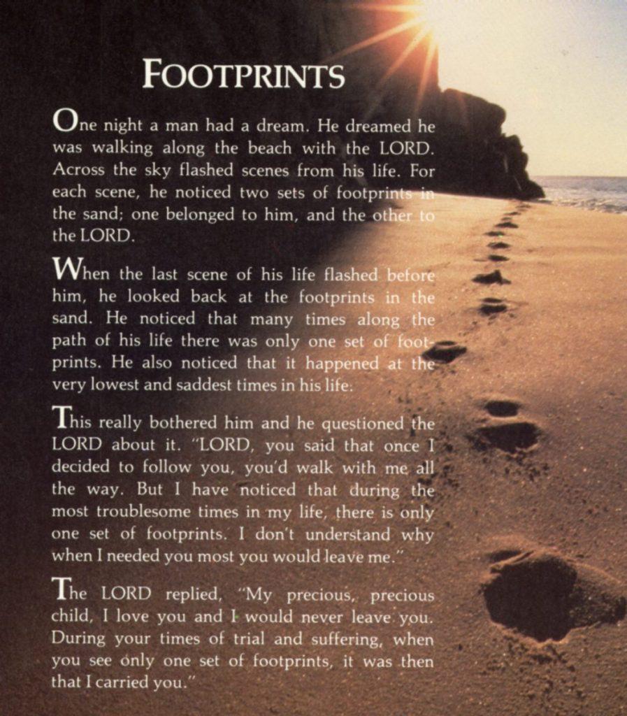 Footprints In The Sand Poem Wallpaper