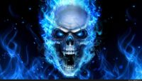 Skull On Blue Fire