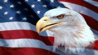 Us Flag With Eagle Background