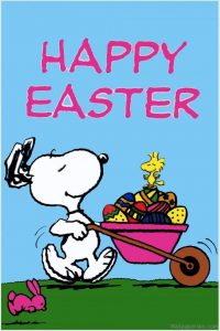 easter images snoopy