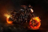 ghost rider spirit of vengeance bike on fire