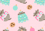 pusheen spring phone wallpaper