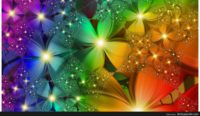 rainbow flowers wallpaper