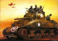 sherman tank wallpaper